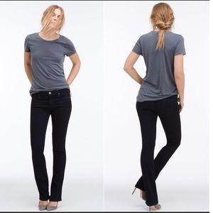 AG Jeans the Ballad slim boot cut black jeans